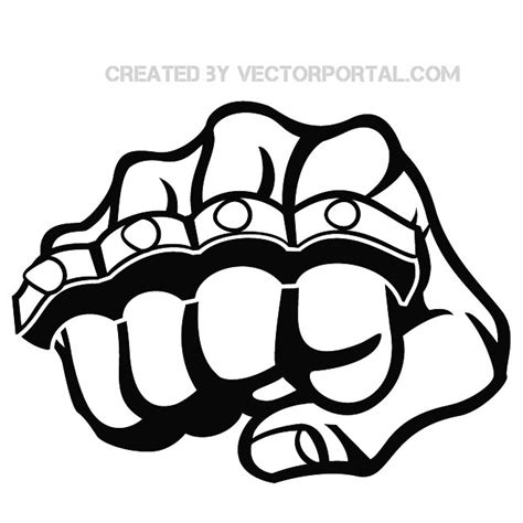 fist and knuckle stock free vector free vectors ui