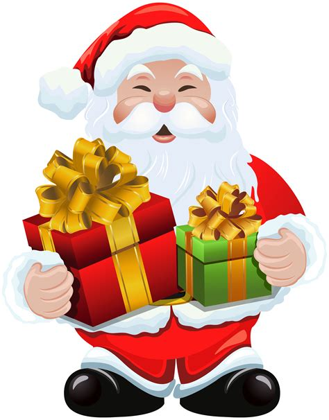 santa claus with gifts clipart clipartxtras