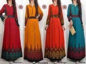 Baju Muslim Coupple Etnik Maroon zarina maxidress etnik katun rayon 3915 busana hijabers