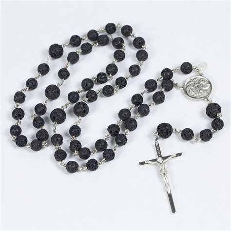 mens rosary lava rock mens rosary rosaries and chaplets by sue