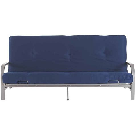 full futon silver metal arm futon frame w full size mattress gray