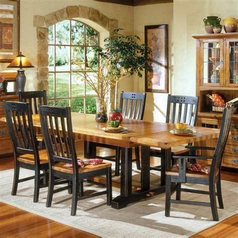 rustic dining room tables and chairs intercon rustic mission refectory dining table sheely s
