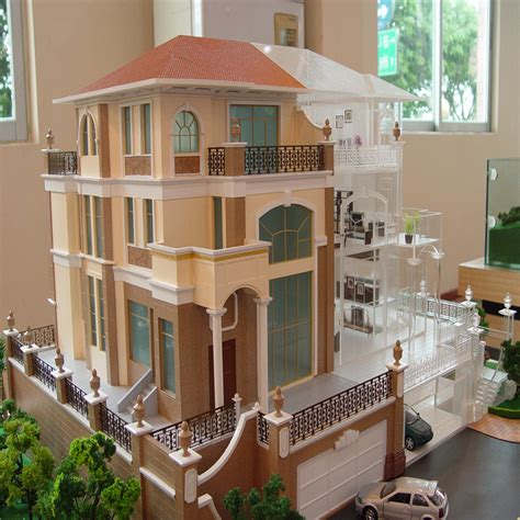 lights for model houses miniature house model with led light 1 25 scale villa