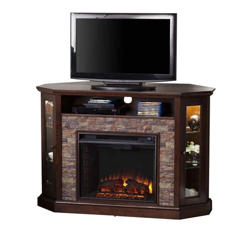 Tv Stands With Electric Fireplace Southern Enterprises Redden Corner Electric Fireplace Tv Stand Fe9392