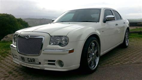chrysler cardiff modern white chrysler 300c wedding car hire newport