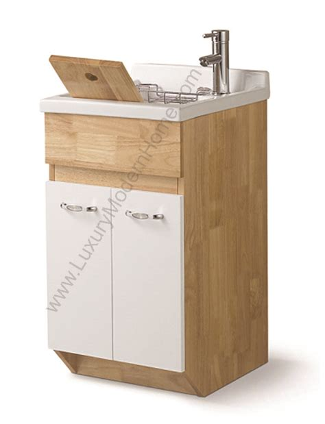 Laundry Room Utility Sink With Cabinet by Modern 18 Quot Small Laundry Utility Sink Mop Slop Oak