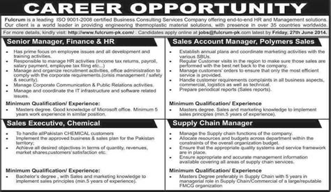 Fresh Mba Supply Chain In Karachi by Finance Hr Sales Supply Chain Managers Sales