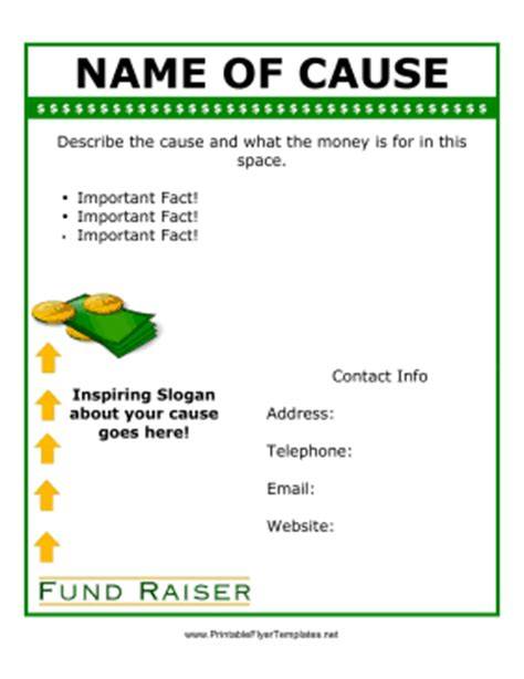 fundraiser brochure template flyer for fundraiser