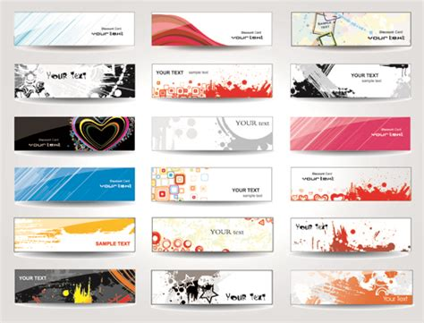 design banner simple huge collection of modern website benner vector graphic 03