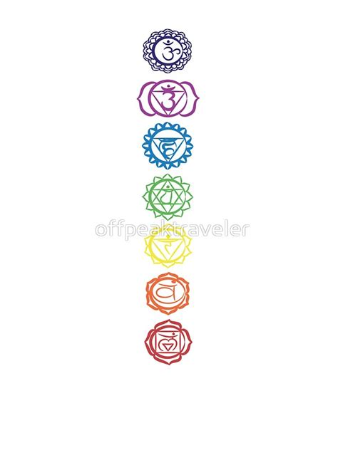 quot seven chakra symbols quot stickers by offpeaktraveler redbubble