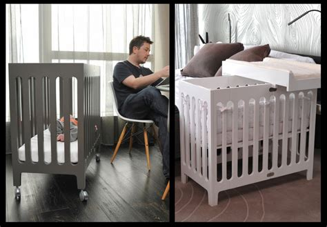 Living Chic In Small Family Spaces Parentmap Mini Cribs For Small Spaces