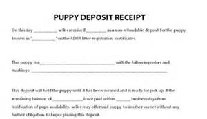 puppy deposit receipt