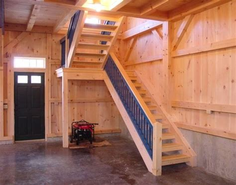 Garage Stairs Design Barn Framing For Stairs I Kinda Like The Shape Of These Stairs By Raelynn8 Pole Barn Garages