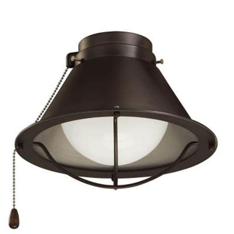 Home Depot Ceiling Fan Light Kits Illumine Zephyr 1 Light Rubbed Bronze Ceiling Fan Light Kit Cli Emm023644 The Home Depot