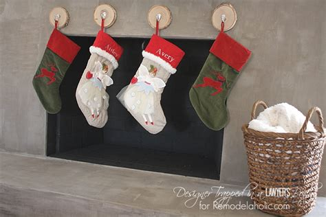 hang stockings without mantle remodelaholic how to hang without a mantel