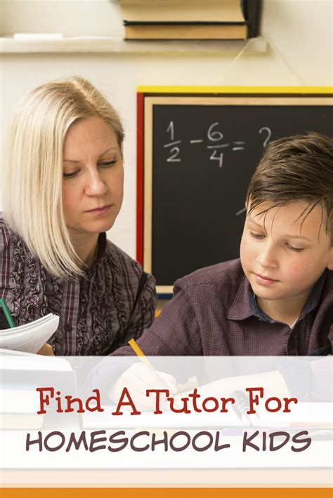 how to find a tutor for your homeschooled child the
