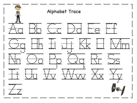 traceable alphabet templates tracing letters for activities