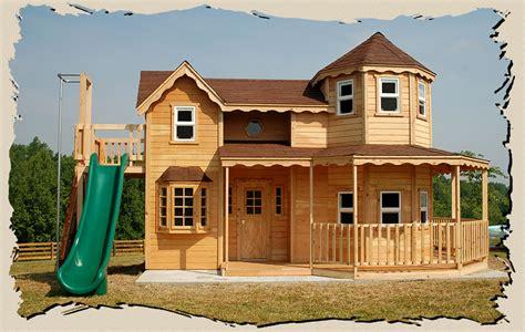 queen anne kids wood playhouse