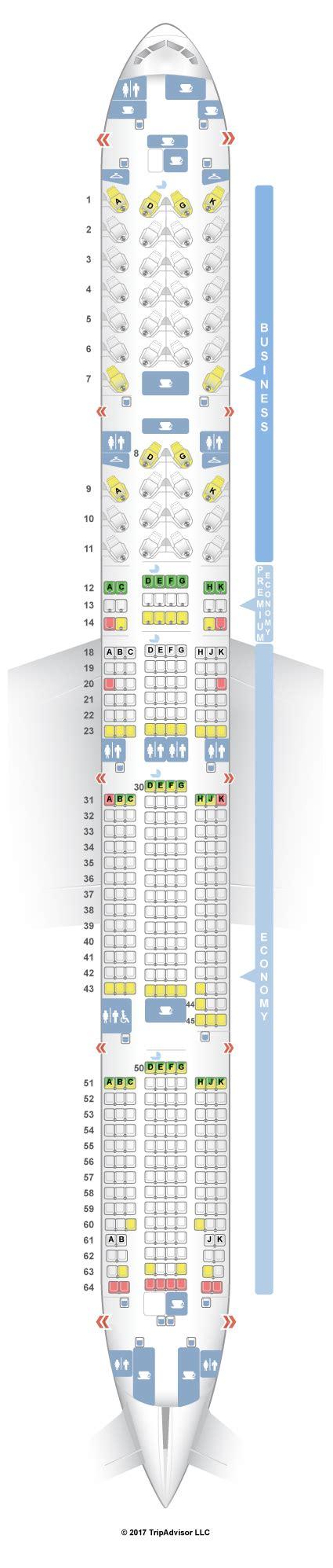 seatguru seat map air canada boeing 777 300er 77w three