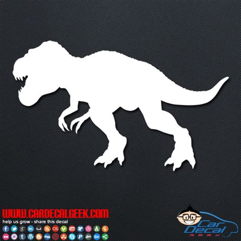 jurassic park car trex jurassic park t rex dinosaur car truck decal sticker