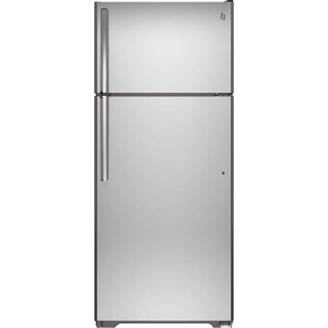 ge 17 5 cu ft free top freezer refrigerator in