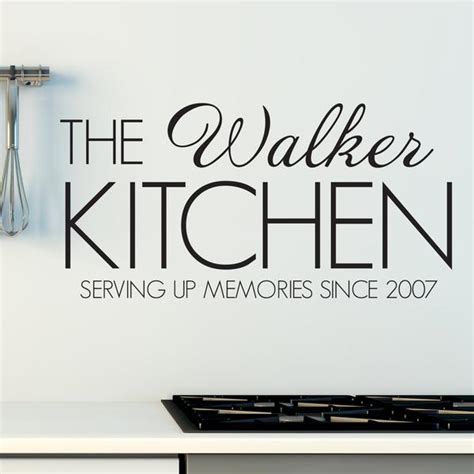 kitchen wall stickers uk personalised family name kitchen wall sticker
