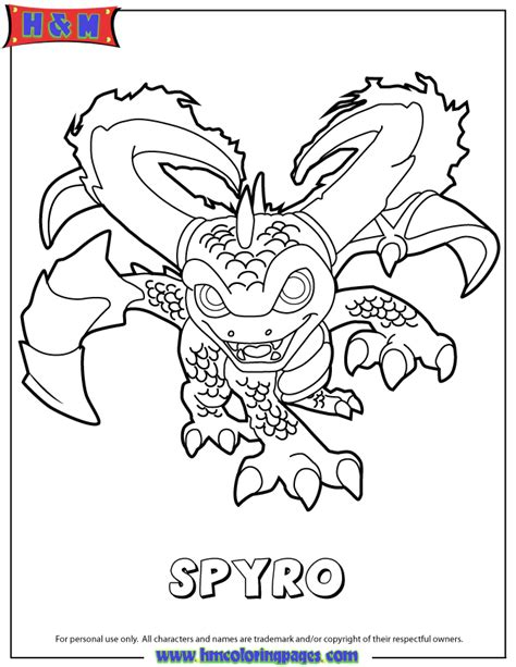 skylanders swap force magic series3 spyro coloring page