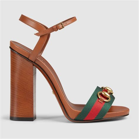 Guc Ci Leather Brown lyst gucci leather t sandal in brown