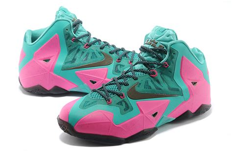 nike lebron 11 pink new green black for sale new