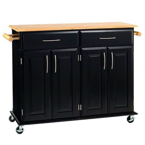 Toscano Home Decor modern kitchen island storage cart dining portable wheels