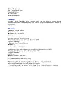 Criminal Justice Resume Objective Resume Objective Examples Student Bestsellerbookdb