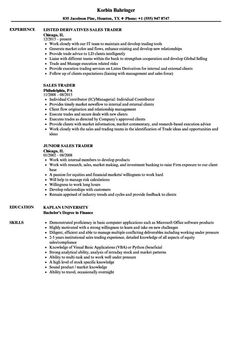 Fixed Income Trader Sle Resume by Fixed Income Trader Resume Collection Apartment Assistant Manager Cover Letter
