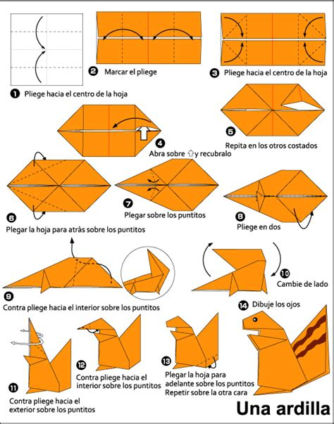 Squirrel Origami - origami squirrel