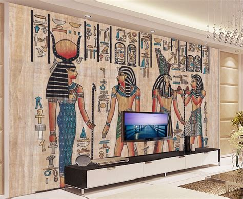 ancient egyptian home decor murals 3d wallpapers home decor photo background wallpaper
