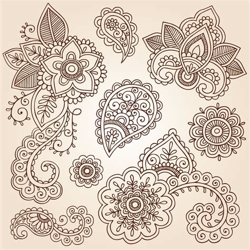 fotomural henna paisley tatuagem mandala design doodles