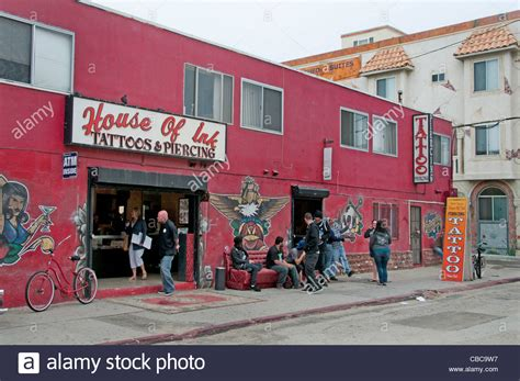 tattoo shops venice beach house of ink and piercing shop venice