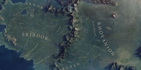 3d map of middle earth what middle earth would look like from space