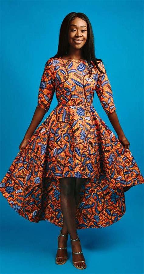 Maxi Arsy Kid zuri hi low dress print hi low dress 3 4