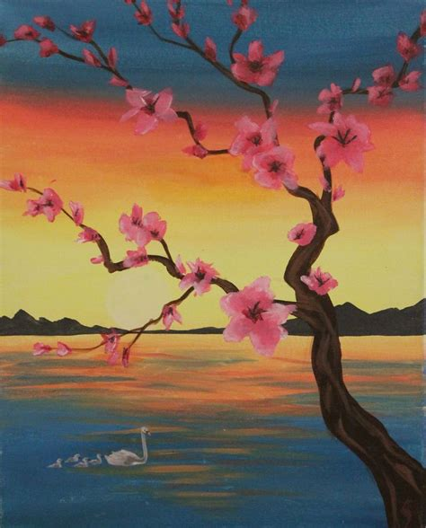 paint nite akron 17 best ideas about cherry blossom painting on
