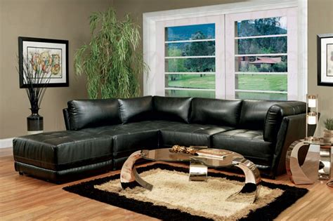 live couch black bonded leather sectional set sectionals
