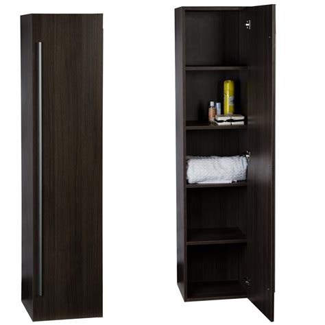 armoire linen cupboard buy 16 quot x 67 quot linen cabinet in grey oak free shipping tn n1200 sc go on conceptbaths com