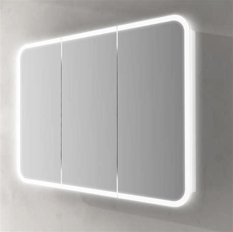 specchi bagno contenitori specchiera contenitore led interno 95x70hx15 in