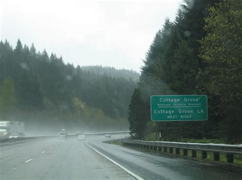 4 Cottage Grove Route by Oregon Aaroads Interstate 5 Roseburg To Eugene