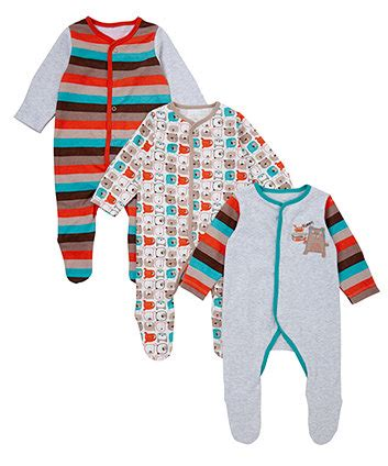 Mothercare Sleepsuit 4 mothercare fashion sleepsuit 3 pack sleepsuits mothercare
