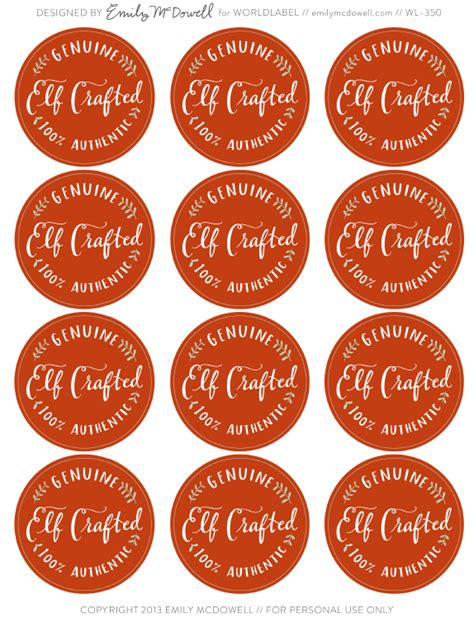 printable christmas round tags hand illustrated holiday labels by emily mcdowell