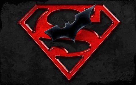 wallpaper batman n superman superman batman logo cartoon hd background for pc