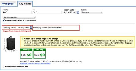 united airlines domestic baggage how often does united change their baggage policy