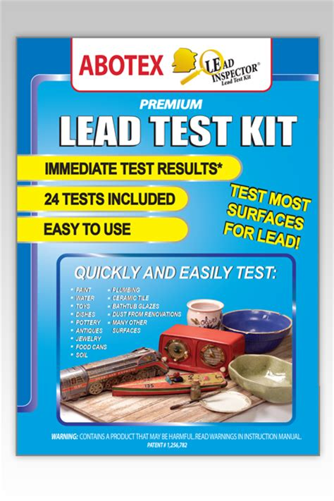 lead test kit 24 tests abotex lead inspector lead
