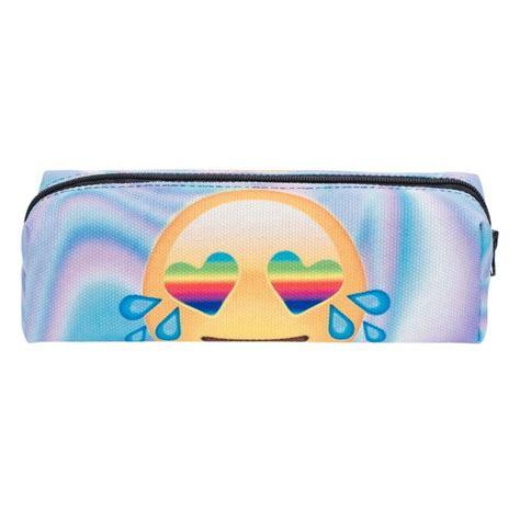 Mcd3 Tas Perlengkapan Mandi Klettern Toiletry Bag 2 emoji rainbow holo 3d printing cosmetic bag 2016 fashion makeup bag organizer