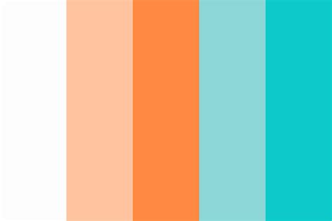 complementary color palette turquoise and coral complimentary color palette color
